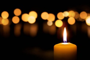 Candles on dark background
